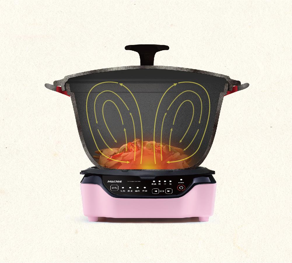 琺瑯鑄鐵鍋能夠在烹飪過程中鎖住食材養分,加速水氣在鍋內的對流,充分保留食材原汁原味